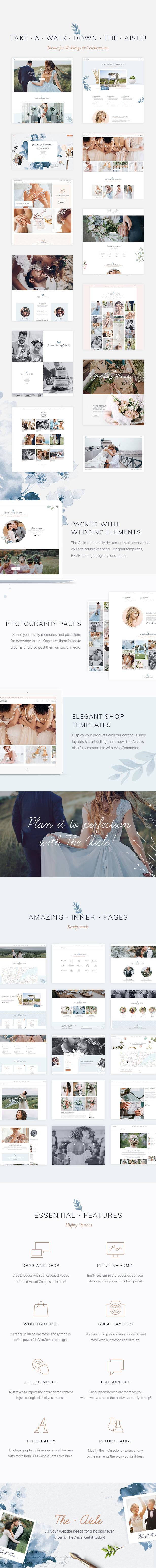 The Aisle - Elegant Wedding Theme - 1